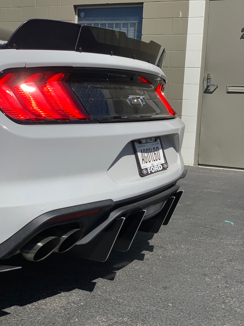 2018+ Ford Mustang 3 Piece Diffuser Slant-In Design