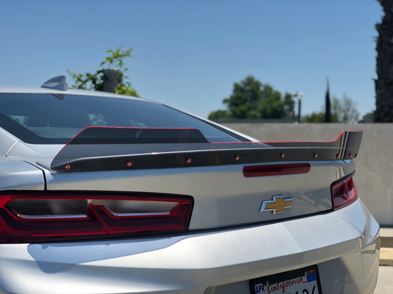 2016+ Chevy Camaro Small Spoiler Wicker Bill Full Glass