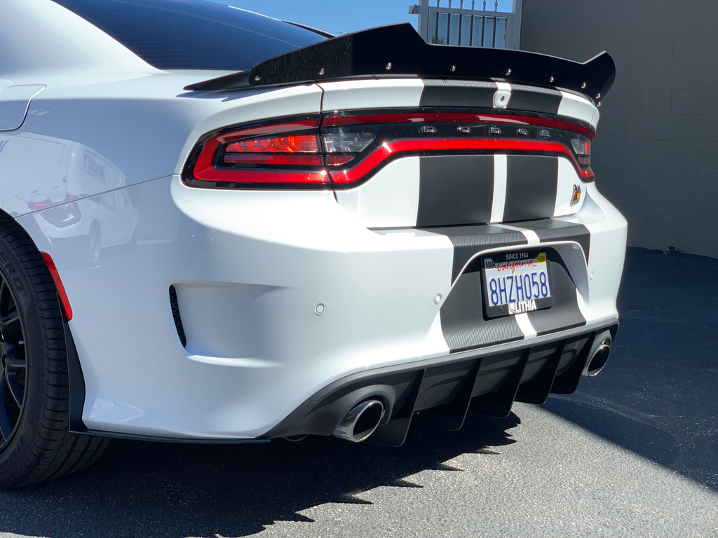 2015+ Charger SP-SRT Hellcat Rear Spats Mudguards Medium Size