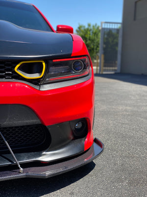 Dodge Charger Front Splitter Carbon Fiber V2 Winglet