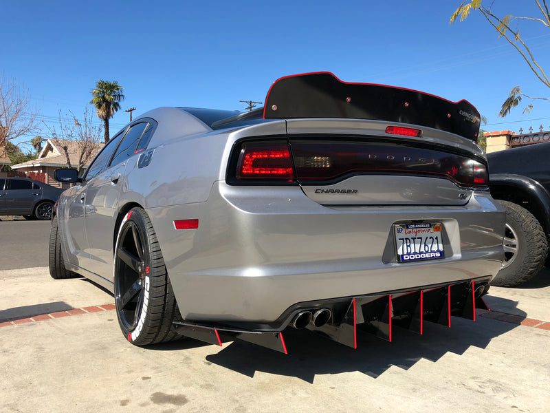 2011-14 Dodge Charger SXT-SRT Custom Rear Diffusers
