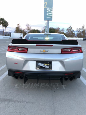 2016+ Chevy Camaro Small Spoiler Wicker Bill With/Out Glass