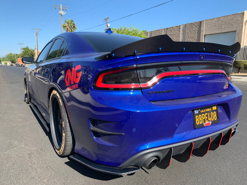 Dodge Charger Rear Spats Carbon Fiber