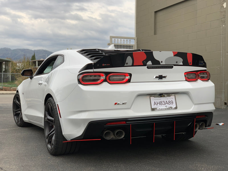 2016+ Chevy Camaro RS-SS (Quad Tip Valence) (Flat Ends)