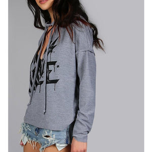 Distressed Cut Out Hoodie
