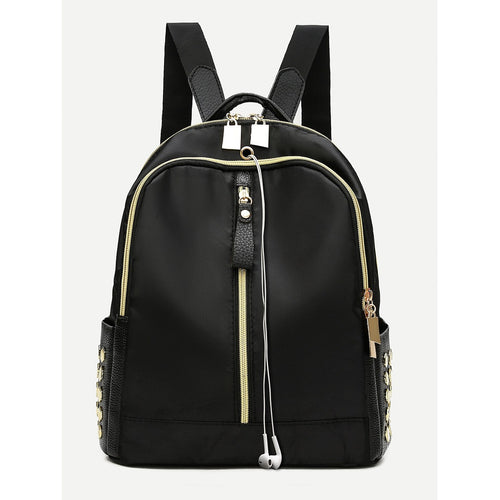Zip Front Side Pocket Backpack
