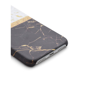 Color Block Marble Print iPhone Case