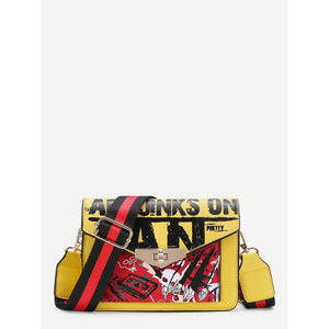 Graphic Print Crossbody Bag