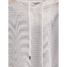 Fishnet Crop Top Hooded T-shirt