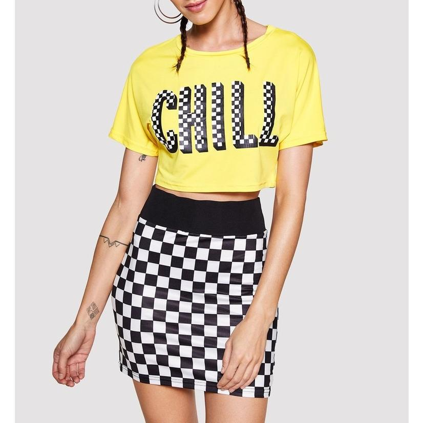Chill Crop Top With Skirt
