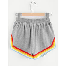 Rainbow Halter Top And Shorts Set