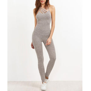 Caged Neck Jumpsuit