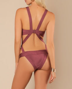 Open Cut Strappy Swimsuit