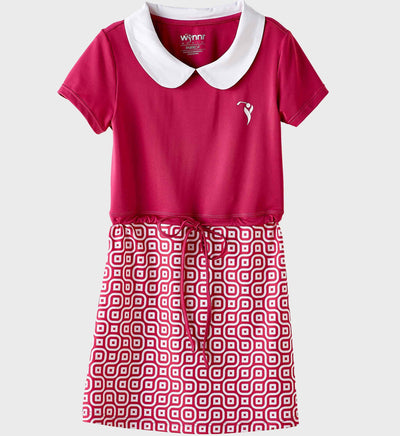 Girls Junior Golf Rose Print Performance Dress