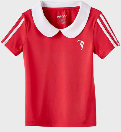 Girls Junior Golf Short Sleeve Melon Performance Polo Shirt