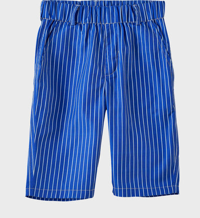 Boys Junior Golf Bright Blue Stripe Performance Short
