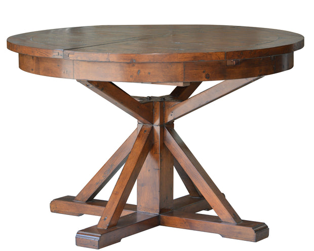 Irish Coast Round Extension Dining Table - African Dusk
