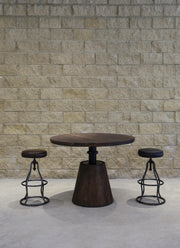 Bowie Bar Stool - Distressed Black Leather