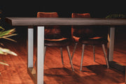TAJ Dining Table - Vinegar Matte U Tube Metal
