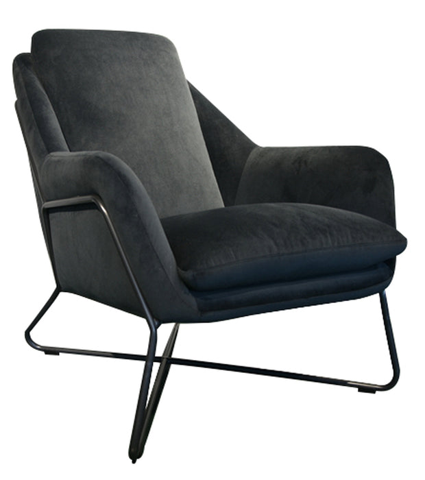 Romeo Lounge Chair - Dark Grey Velvet