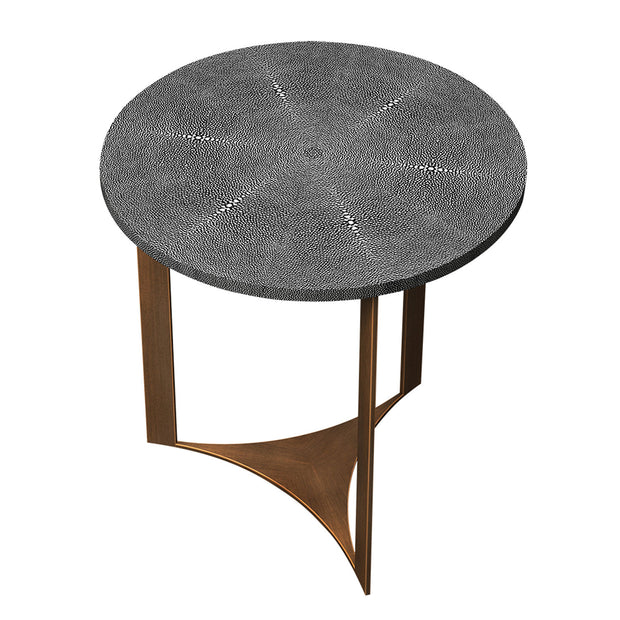 Ambiente Shagreen Round Side Table