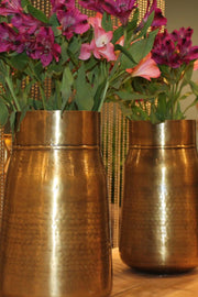 Earth Wind & Fire Large Milk Can Vase - Brass Antique