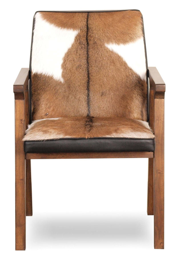 Rio Cool Armchair - Cool Brown & Leather