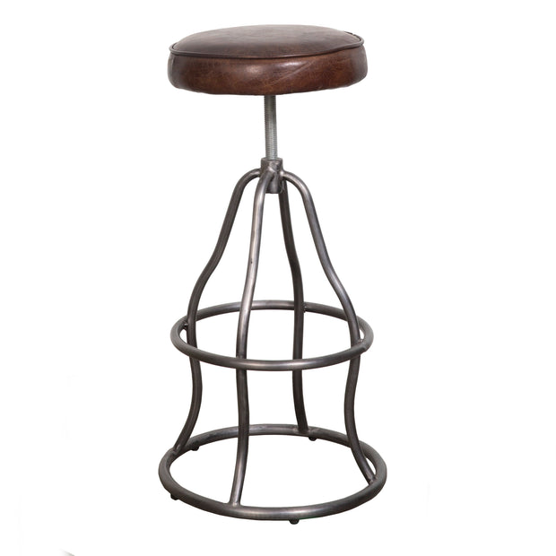 Bowie Bar Stool - Brown Vintage Leather