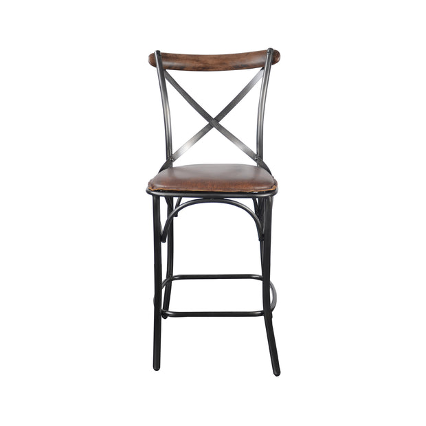 Metal Crossback Counter Stool