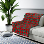 Holiday Plaid Sherpa Fleece Blanket - Dapper Digs Trading Co