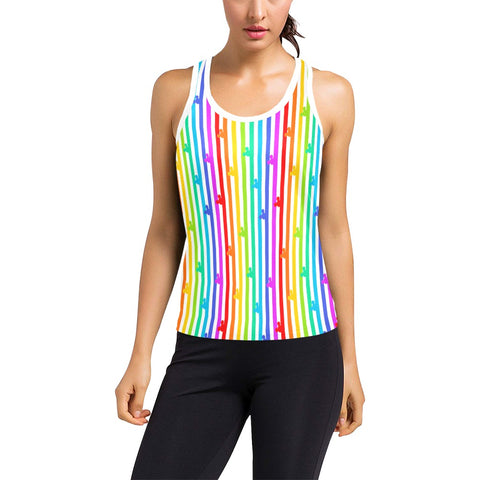 Pride Stripes Women's Racerback - Dapper Digs Trading Co