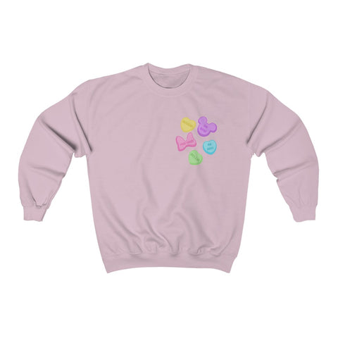 Candy Hearts Unisex Sweatshirt - Dapper Digs Trading Co