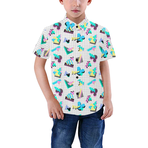 90s Mouse Grid Childs Button Down - Dapper Digs Trading Co