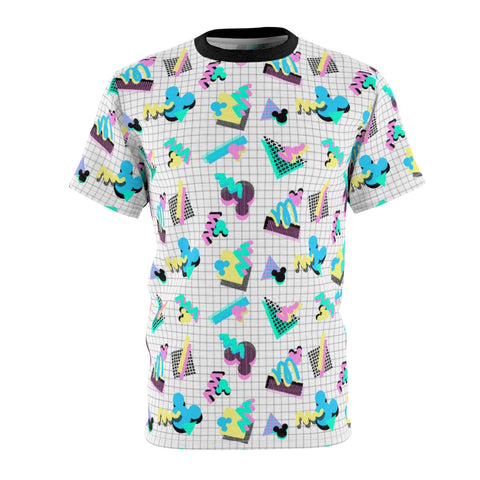90s Mouse Grid Unisex Tee - Dapper Digs Trading Co