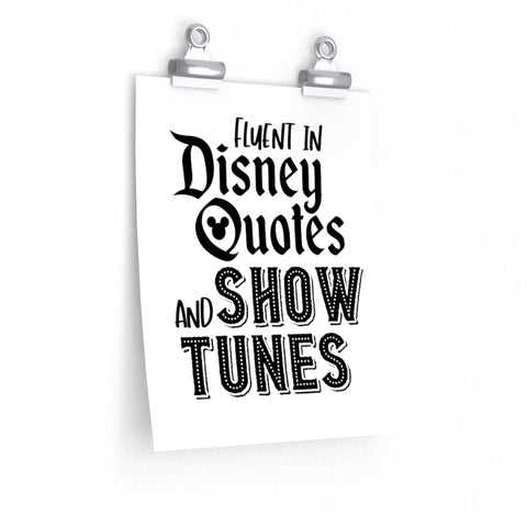 Disney Quotes and Show Tunes Art Print - Dapper Digs Trading Co