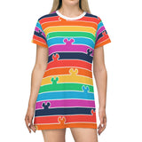 Pride Stripes T-Shirt Dress - Dapper Digs Trading Co
