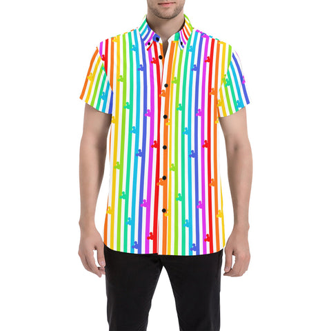 Pride Mouse Stripes Button Down - Dapper Digs Trading Co