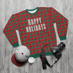 Holiday Plaid AOP Unisex Sweatshirt - Dapper Digs Trading Co