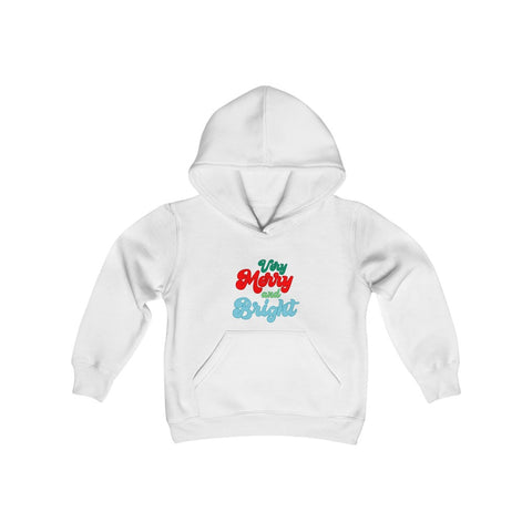 Very Merry & Bright Hooded Sweatshirt - Dapper Digs Trading Co