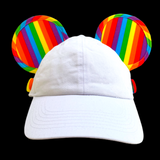 Rainbow Ear Saver Ear Hat (with or with out Bow Attachment) - Dapper Digs Trading Co
