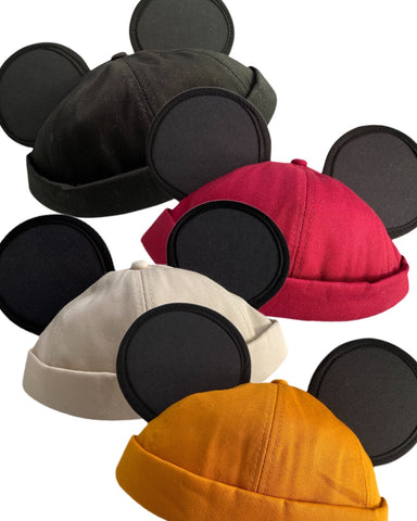 Classic Mouse Brimless Ear Hat (4 Colors Available) - Dapper Digs Trading Co
