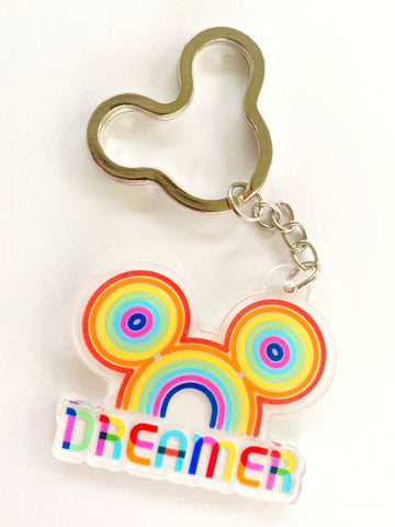 Dreamer Rainbow Key Chain - Dapper Digs Trading Co