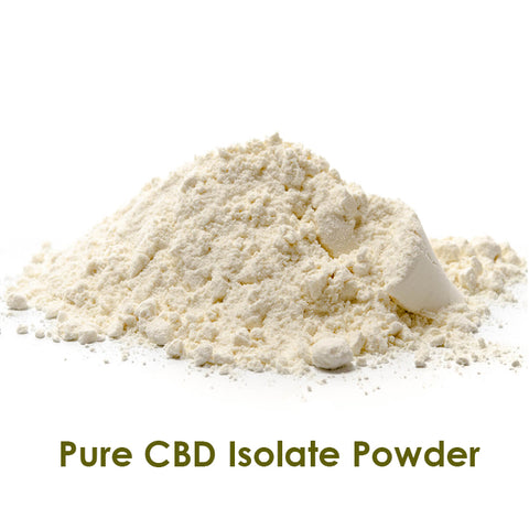 Raw cbd isolate powder