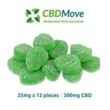 Load image into Gallery viewer, CBDMove CBD Isolate Mint Gummies 100mg & 300mg - CBD Canada