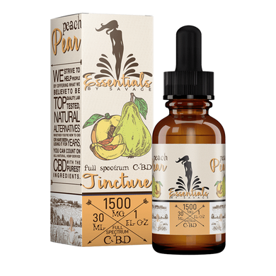 Essentials by Savage Peach & Pear Tincture 1000/1500/2000 - Chilliwack CBD Canada