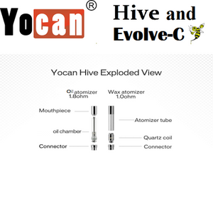 Yocan Hive 2.0 Replacment Cartridge (CBD Eliquid ) 1.8 Ohm - Chilliwack CBD Canada