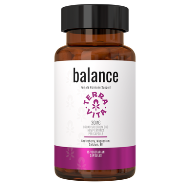 Terra Vita Broad Spectrum CBD Capsules 'Balance' 450mg (15 count bottle) - CBD Canada