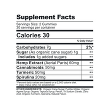 Load image into Gallery viewer, CBDfx Turmeric & Spirulina gummies 1500mg (60 count bottle) - CBD Canada