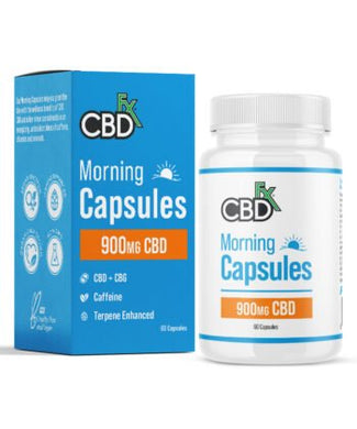 CBDfx CBD + CBG 'Morning Capsules' 900mg (60 count bottle) - CBD Canada