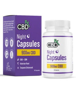 CBDfx CBD + CBN 'Night Capsules' 900mg (60 count bottle) - CBD Canada
